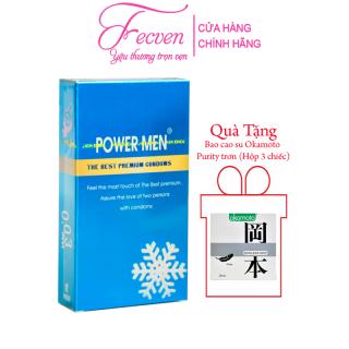 Bao Cao Su Power Men Điệp Viên Tàng Hình Bạc Hà Mát Lạnh Siêu Mỏng 0,03 mm Hộp 12 Chiếc FECVEN thumbnail