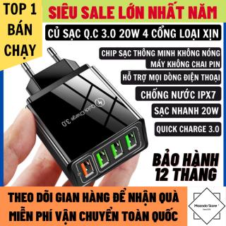 Củ Sạc Nhanh 20W Quick Charge 3.0 4 Cổng Nhiều Chế Độ Sạc Khác Nhau Hỗ Trợ Mọi Dòng Điện Thoại Chống Nước IPX7, Củ Sạc Nhanh Iphone, Củ Sạc Nhanh Dây Sạc Nhanh thumbnail