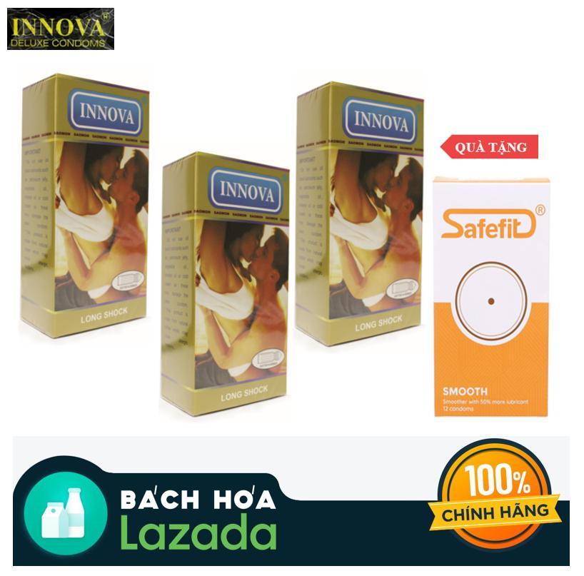 Bộ 3 Innova vàng 12 pcs tặng Safe fit Smooth 12 pcs cao cấp