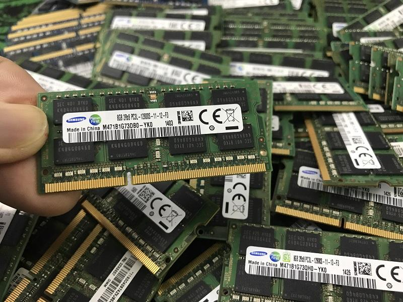 Giá Ram zin tháo máy laptop 8GB DDR3L Bus 1600Mhz dùng cho laptop core i thế hệ 4 - 5 -6 trở xuống