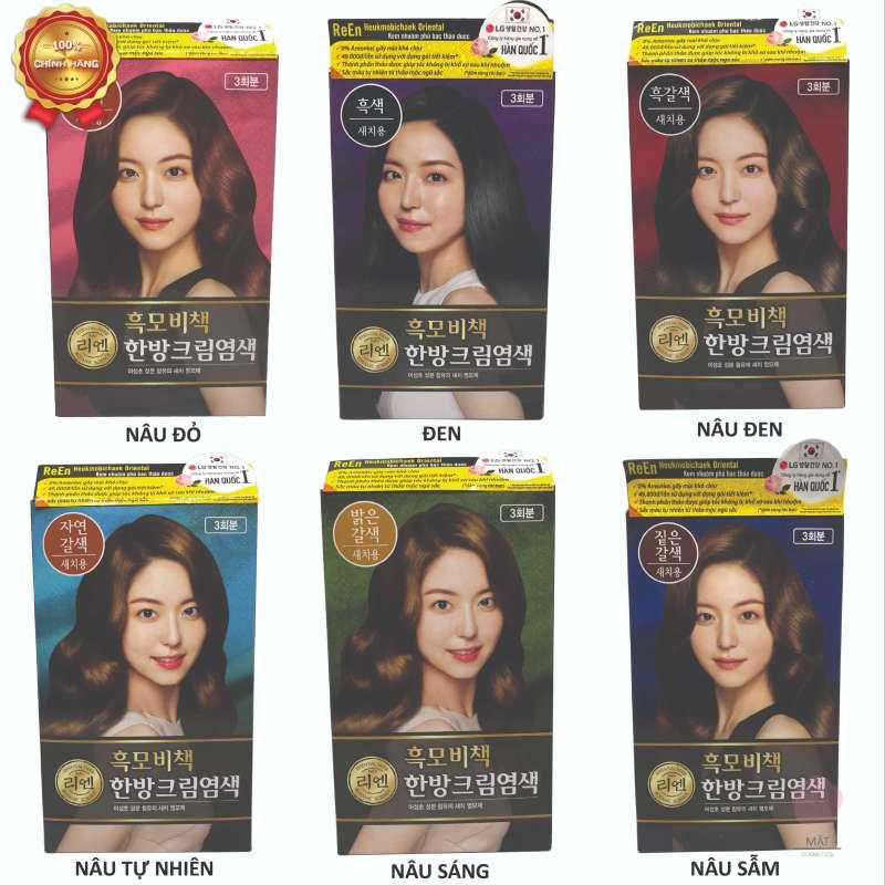 Thuốc nhuộm phủ bạc Hàn Quốc Reen Heukmobichaek Oriental 6 màu giá rẻ