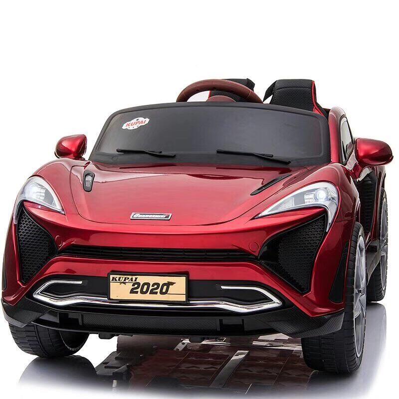 Giá Quá Tốt Để Có Ô Tô Xe điện Trẻ Em Cao Cấp KUPAI 2020 đồ Chơi Vận động đạp Ga 2 Chỗ 4 động Cơ Cho Bé ( Đỏ-Trắng-Cam)