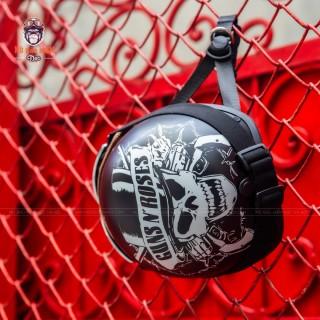 Mũ Bảo Hiểm Nửa Đầu Thiết Kế Tiêu Chuẩn HR1 Guns N Rose thumbnail