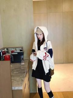 Áo hoodie,áo khoác hoodie nỉ nam nữ chất thun nỉ mềm mịn from rộng thêu cờ viền tay ( có khóa kéo) thumbnail