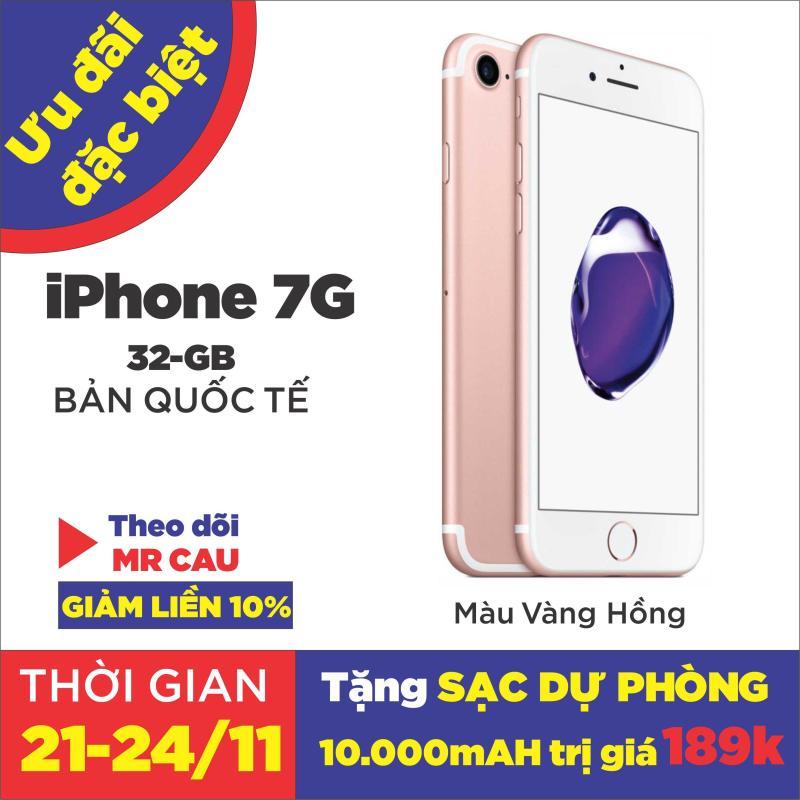 Điện thoại Apple iPhone 7  32GB 128GB QUỐC TẾ 2GB RAM Quad-core 2.34GHz Chipset Apple A10 Fusion Màn Hình 4.7 inches Camera sau 12MP Selfie 7MP Đẳng Cấp