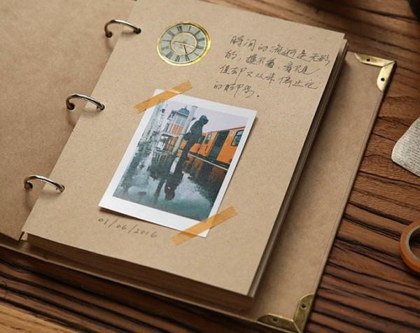 Mua SỔ SCRAPBOOK TRƠN A5 dùng làm album ảnh hoặc album sổ tay lưu niệm DIY