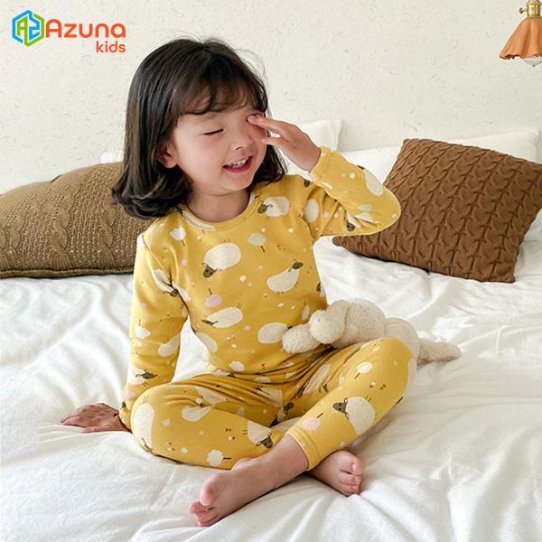 Giá bán Bộ quần áo thu đông dài tay cho bé gái Ambb Kids – đồ bộ thun dài tay xuất hàn Azuna