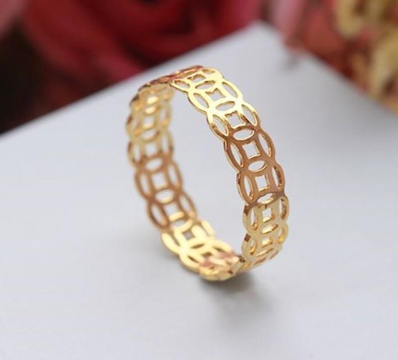 Nhẫn Kim Tiền Tài Lộc Vàng Non 24k Thái Lan [ NHẪN THẦN TÀI ĐEM LẠI MAY MẮN KINH DOANH ]