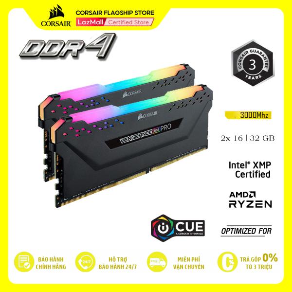 Bảng giá RAM PC CORSAIR VENGEANCE PRO RGB 32GB DDR4 2x16G 3000MHz CMW32GX4M2D3000C16 Phong Vũ