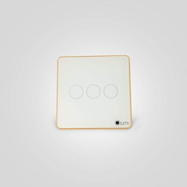 Công tắc cảm ứng lumi 3 nút cảm ứng điều khiển từ xa