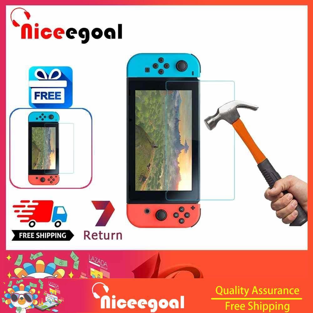 Giá Niceegoal Cho Nintendo Switch Kính Cường Lực Độ Cứng 9 H Kính Cường Lực Cao Cấp dành cho Máy Nintendo Switch NS [Tặng một máy Nintendo Switch THÚ CƯNG bộ phim]]
