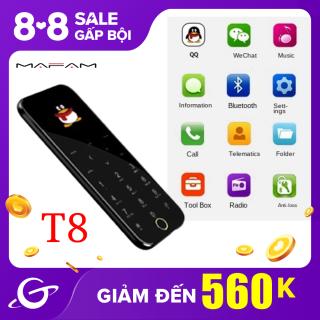 Điện Thoại Di Động Mini Siêu Mỏng MAFAM T8 1.54 Inch, Điện Thoại Di Động Bỏ Túi Sang Trọng, Hỗ Trợ Thẻ SIM Kép Với Máy Nghe Nhạc Mp3 Bluetooth thumbnail