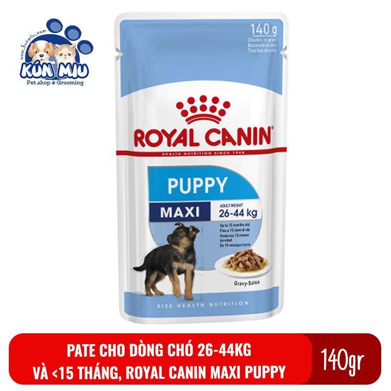 Thức Ăn Pate Cho Chó Royal Canin Maxi Puppy 140Gr Cho Chó Từ 26-44 Kg Và Dưới 15 Tháng Tuổi