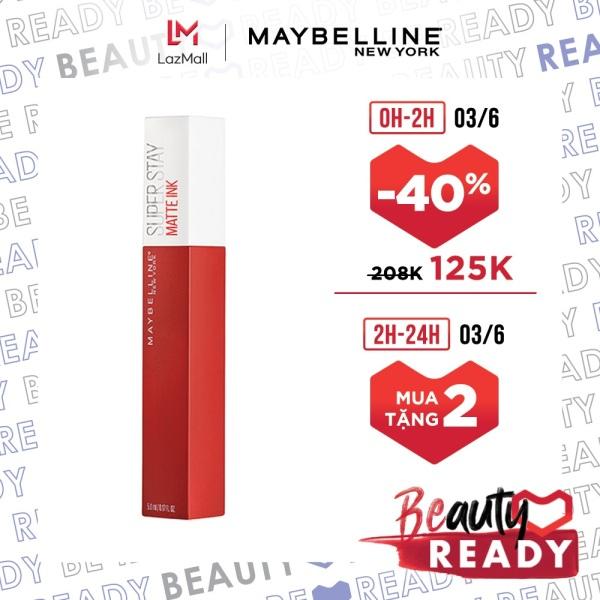 Son Kem Lì 16H Lâu Trôi Maybelline New York Super Stay Matte Ink City Edition Lipstick 5ml giá rẻ