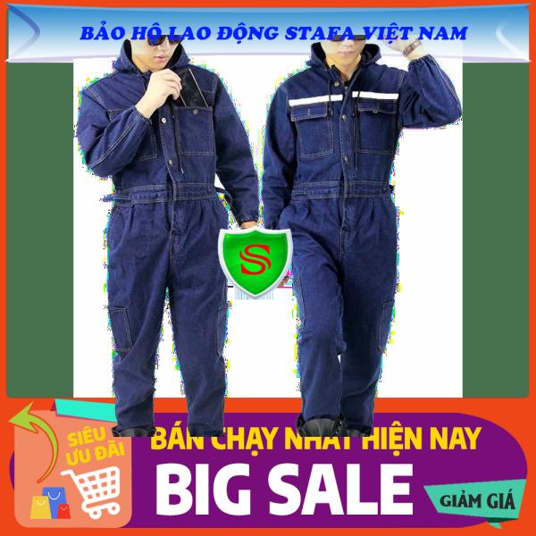 [Quần Áo Vải Bò Cao Cấp] Bộ Quần áo Jean cho Thợ Hàn Cao cấp - Đủ SIZE - Chất liệu Vải bò - Có phản quang cùng Túi hộp