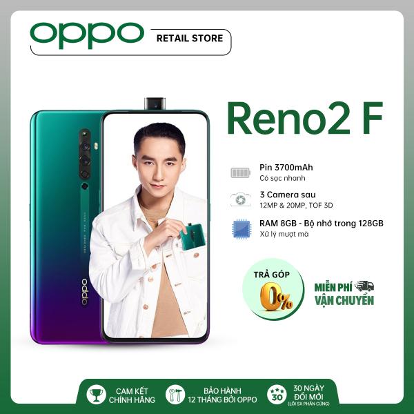 BẢO HÀNH 12 THÁNG Điện thoại OPPO Reno 2F (8GB/128GB) - Màn hình lớn 6.53 Camera trước 16MP 4 Camera sau 48+8+2+2MP 2 Nano SIM