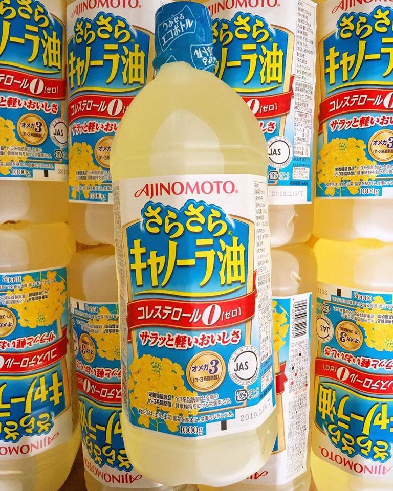 Dầu ăn hạt cải Ajinomoto 1 lít Nhật Bản