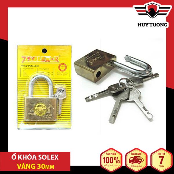 Ổ khóa Solex vàng chống cắt nhiều kích thước cao cấp, bằng thép siêu cứng, có lõi đồng - Huy Tưởng