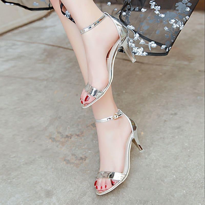 Giày cao gót nhọn quai ngang nhung 7p Rosa