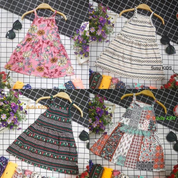 Giá bán [Xưởng may SuSu] Váy 2 dây cotton mềm, mát cho bé mặc hè, váy đầm bé gái, váy bé gái, bộ đồ bé gái, hàng hè cho bé gái