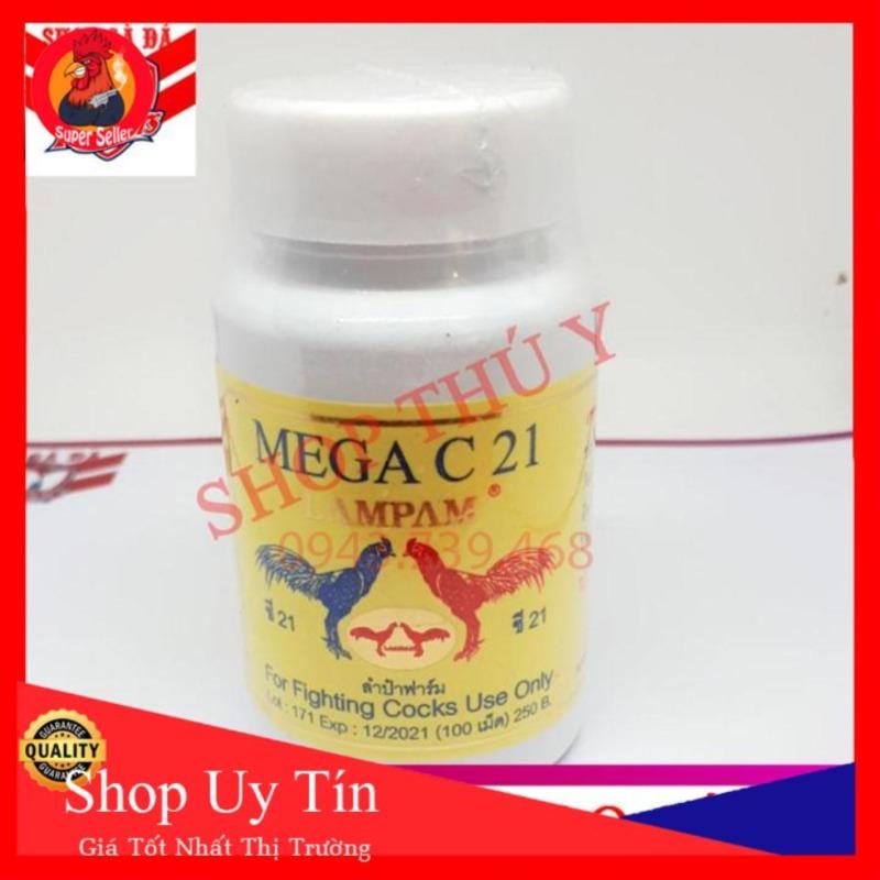 Mega C21 Hộp 100 Viên Nuôi Gà Chế Độ Đá
