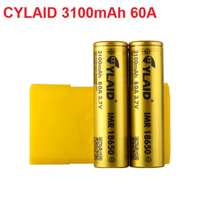 Pin 3.7v 18650 Cylaid dung lượng và độ xả cao 3100mah 60A