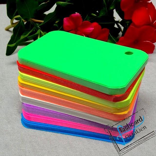 Mua 100 thẻ 8 màu flashcard note tặng kèm khoen - flashcard trắng - Flashcard Phan Liên
