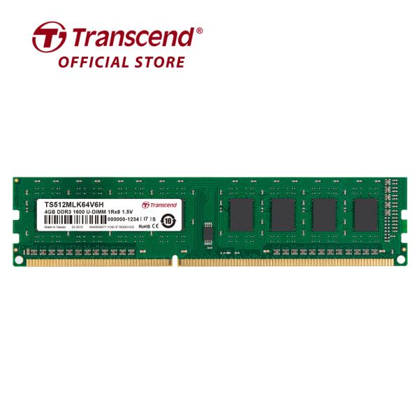 Bảng giá RAM PC Transcend 4GB DDR3 1600Mhz 1Rx8 (512Mx8)x8 CL11 1.5V - Hàng Chính Hãng Phong Vũ