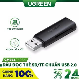 Đầu đọc thẻ SD TF chuẩn USB 2.0 UGREEN CM264 60721 - Hãng phân phối chính thức thumbnail