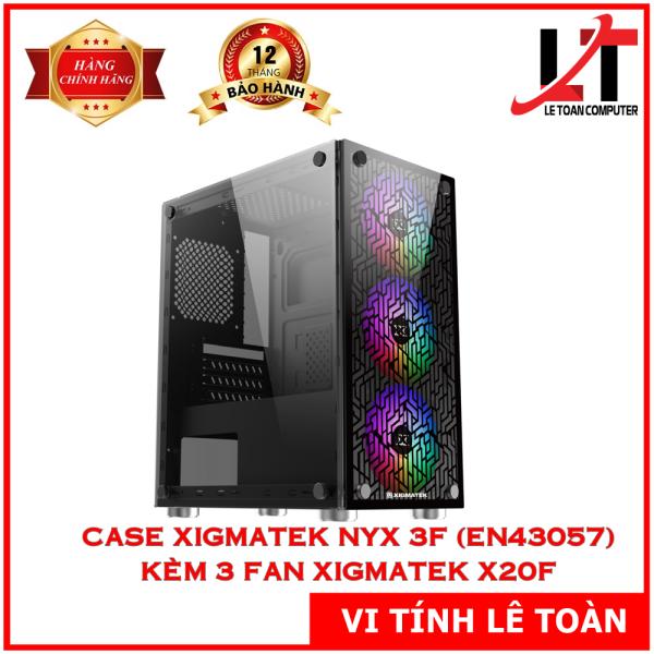 Giá CASE XIGMATEK NYX 3F (EN43057) KÈM 03 FAN XIGMATEK X20F