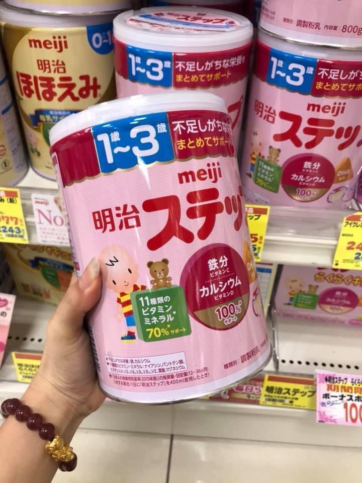 sữa meiji nhật bản 1-3 tuổi