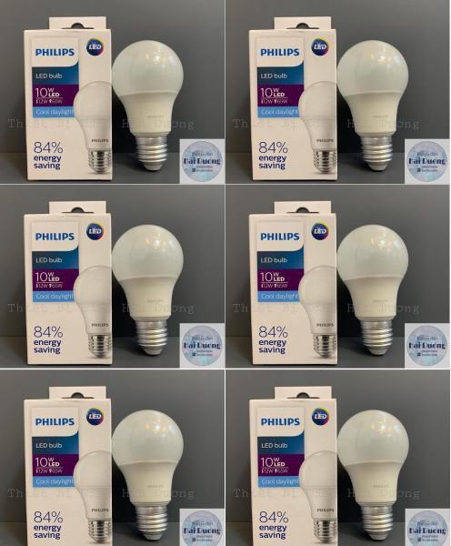 Bộ 6 Bóng đèn LED Bulb 10w E27 Philips HV 1PF/20 GMGC  (Trắng/Vàng)