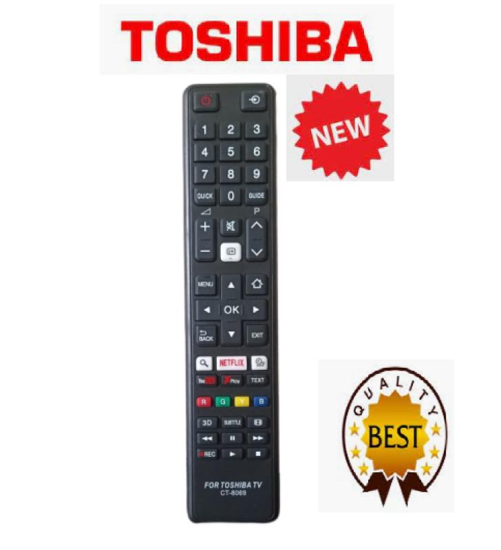 Bảng giá Điều khiển tivi Toshiba CT-8069-Hàng chất lượng có nút netfix -Youtube -3D