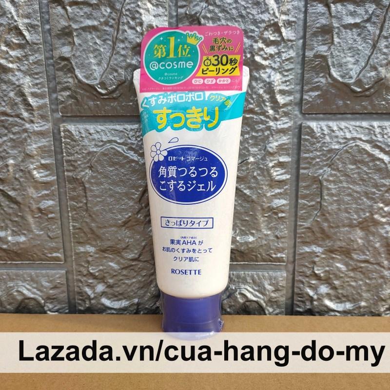 Tẩy Tế Bào Da Chết Rosette Nhật Bản 120g Chiết Xuất Trái Cây - Dành cho mọi loại da Màu xanh