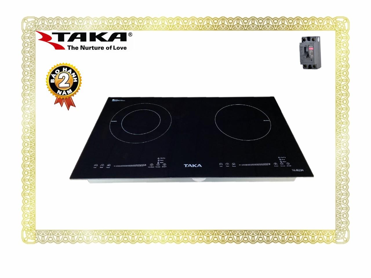 Bếp Đôi 1 Từ + 1 Hồng Ngoại Kính Made In Japan TAKA IR2SN