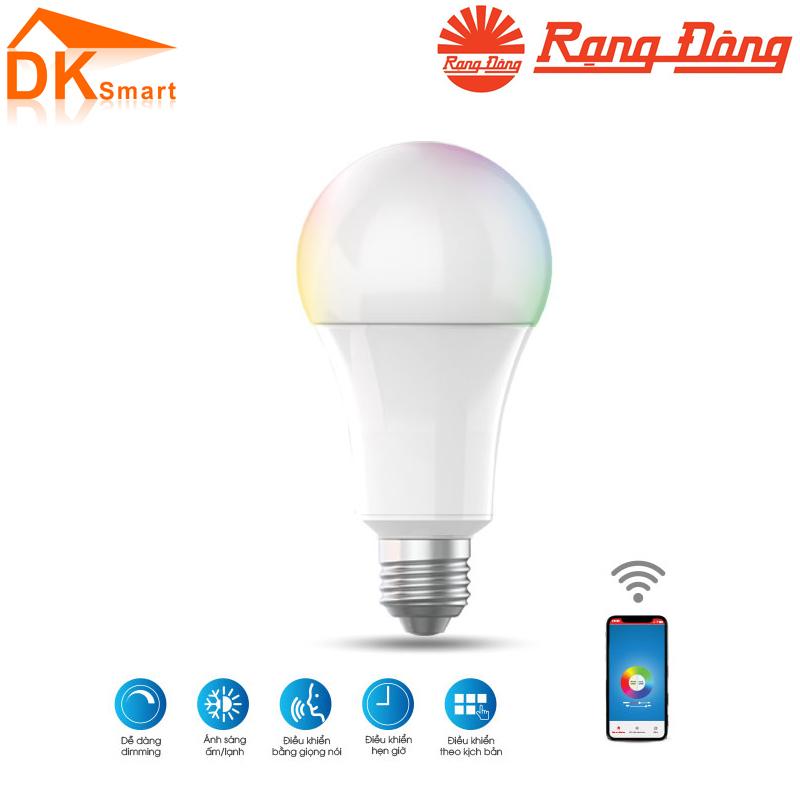 Bóng đèn LED BULB A60 RGBW/9W.WF Kết Nối Wifi Rạng Đông, Bảo Hành 12 Tháng - Hàng Chính Hãng
