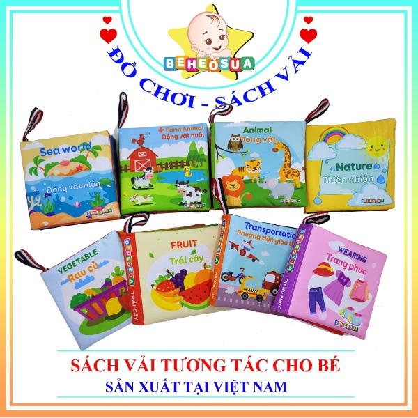 Sách vải cho bé giúp bé kích thích đa giác quan - Thương hiệu Bé Heo Sữa song ngữ Việt - Anh