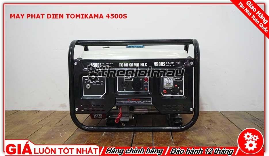 Máy phát điện Tomikama 4500S công suất 3.5kw, chạy xăng, đề