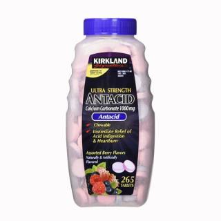 Viên Nhai Kirkland Ultra Strength Antacid Calcium Carbonate 1000mg 265v Của Mỹ, Hỗ Trợ Chữa Đau Bao Tử, Giảm Đầy Hơi, Giảm Lượng Axit Dư Thừa Trong Dạ Dày, Tốt Cho Tiêu Hóa thumbnail
