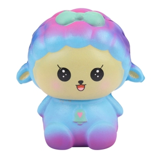 Squishy Toy, Slow Rising Squeeze Soft Cute Fun Galaxy Sheep Jumbo Scented Squishies Stress Relief Toys Phone Charm Gifts for Kids and Adults (Galaxy Sheep) thumbnail