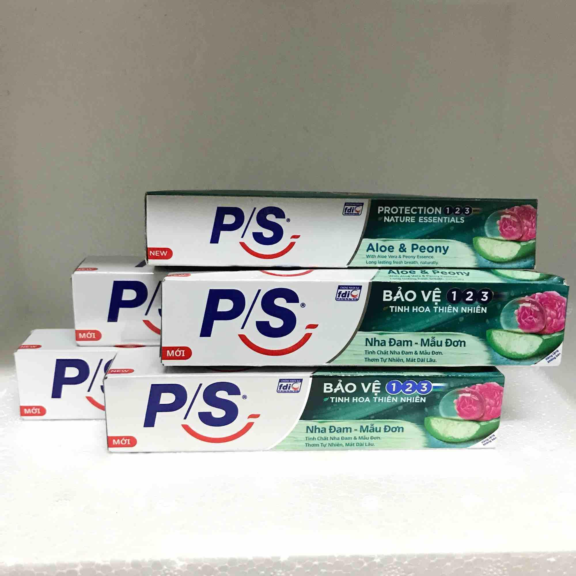 Combo 10 tuýp kem đánh răng P/S nha đam mẫu đơn