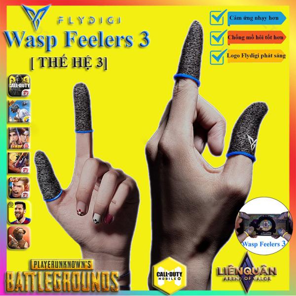 Găng tay gaming Flydigi Wasp Feelers 3 - Bao ngón tay chơi game chống mồ hôi tốt, độ nhạy cao - Hãng phân phối chính thức