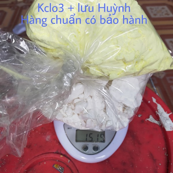 KCl03 1000g + 500g lưu huỳnh combo hàng chuẩn tinh khiết 99,9% cam kết có bảo hàng