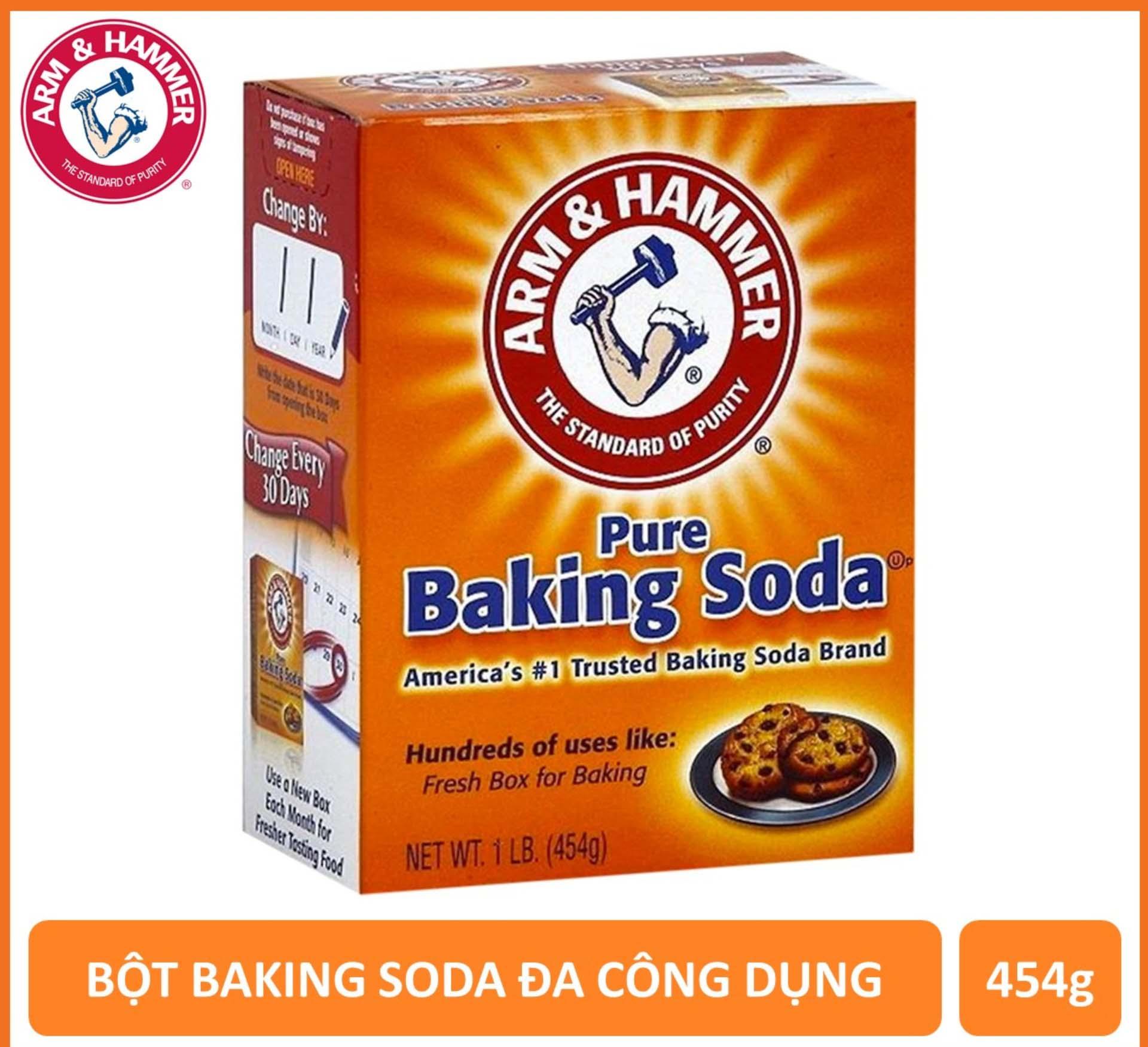 [HCM]Bột baking soda đa công dụng sử dụng làm bánh làm đẹp làm sạch khử mùi bảo vệ sức khỏe trọng lượng 454g - Xuất xứ Mỹ