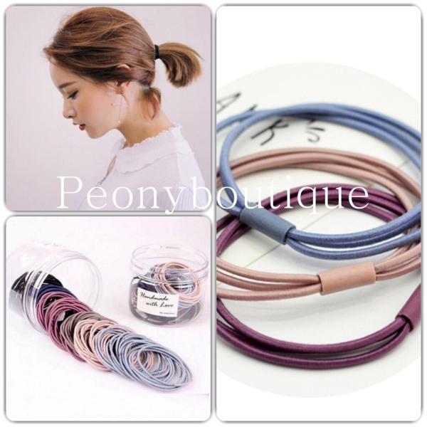 Phụ Kiện Tóc Nữ 🌸 Dây chun buộc tóc nhiều màu kẹp 3 sợi cao cấp kiểu dáng Korea SIÊU HOT 🌸