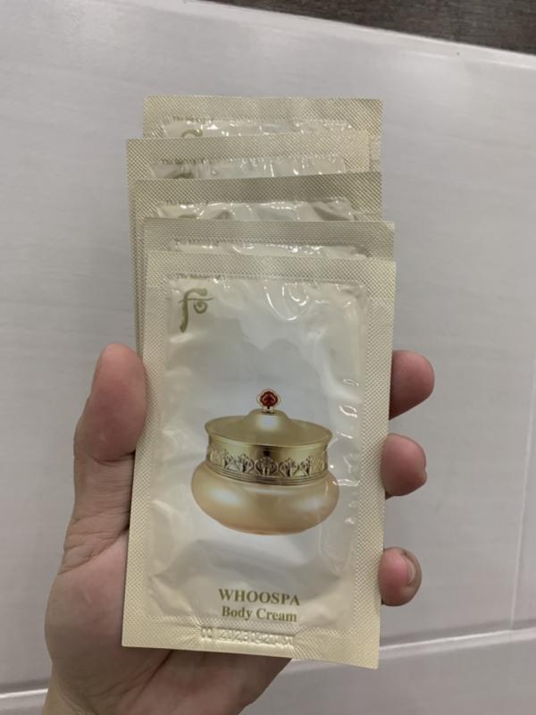 [Mới]combo 5 gói Dưỡng thể trắng da toàn thân giúp sáng da The History Of Whoo Spa Body Cream 8ml