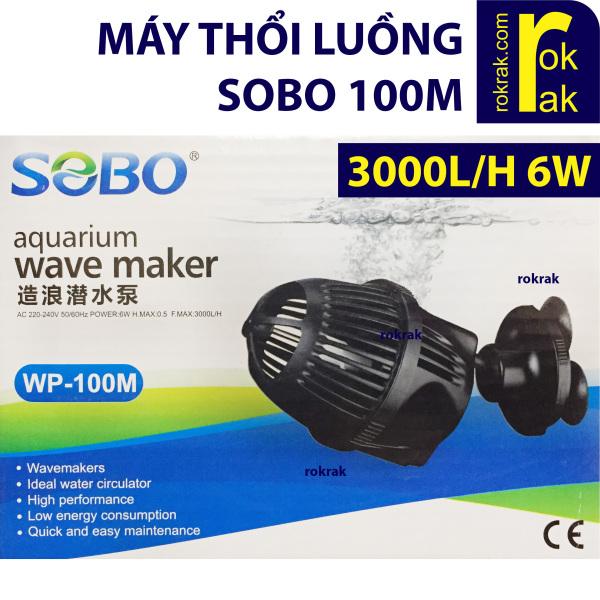 Máy thổi luồng, tạo sóng 1 đầu SOBO WP-100M 6W cho hồ cá