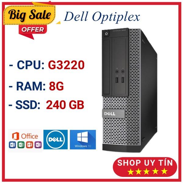 Bảng giá Case máy tính đồng bộ Dell 3020 G3220 Ram 8G, ổ cứng SSD 240GB hàng nhập khẩu Nhật nguyên bản, bảo hành 12 tháng Phong Vũ