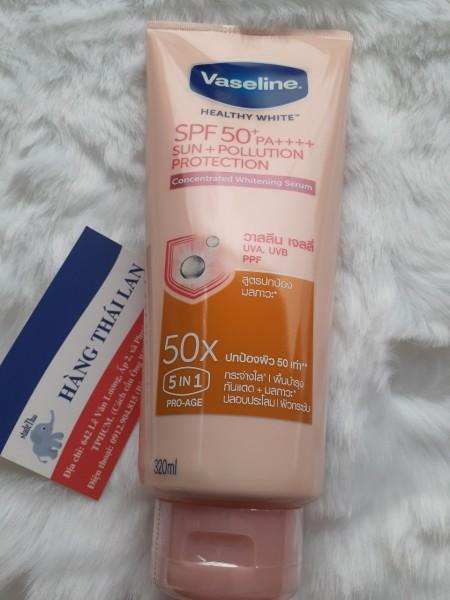Sữa dưỡng thể Vaseline 50X Thái Lan 320ml cao cấp