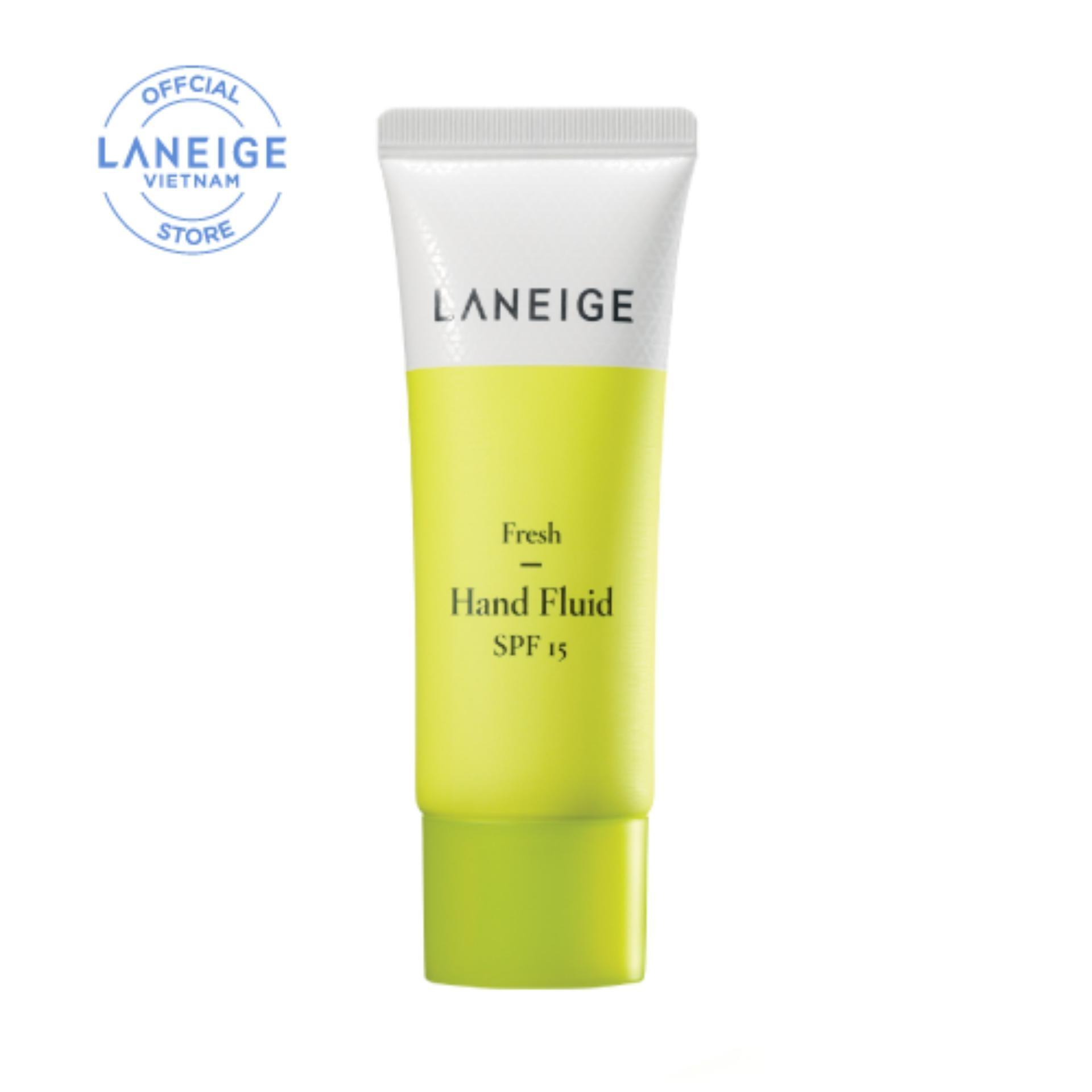 Kem dưỡng dịu mát da tay dạng lỏng Laneige Fresh Hand Fluid SPF15 40ml chính hãng